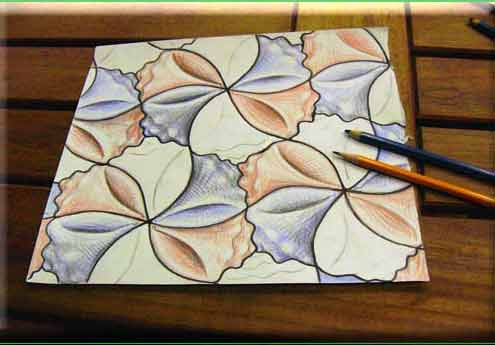 Do it yourself tessellations tracing paper triangle spin step 27 of 28 use color 2 solutioingenieria Gallery