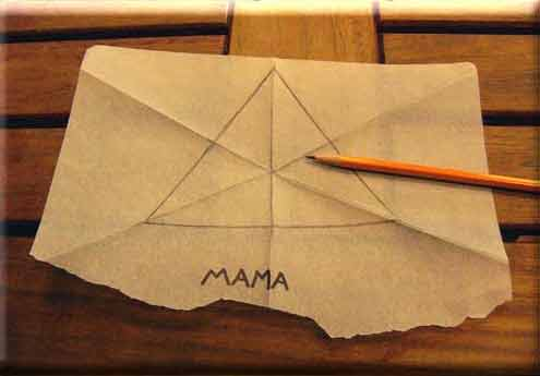 Do it yourself tessellations tracing paper triangle spin step 9 of 28 with pencil trace those folds inside the triangle solutioingenieria Gallery