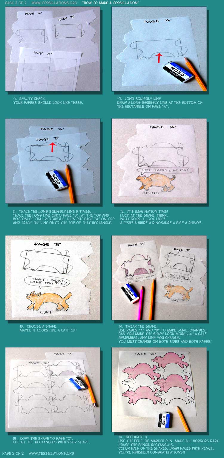 do it yourself tessellations tracing paper method