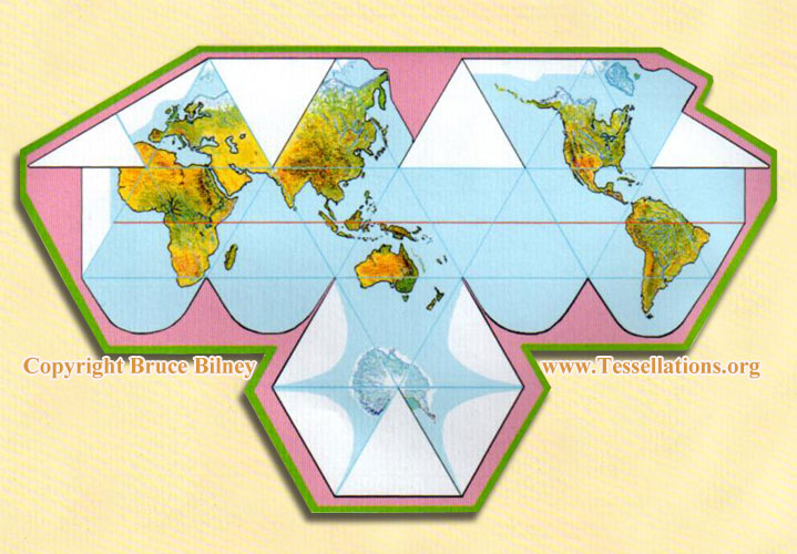 Bruce bilneys platonic solids 3d icosahedron world map bruce bilneys icosahedron world map gumiabroncs Choice Image
