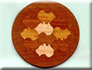 tessellation of australian continent on a wood jewelry box lid
