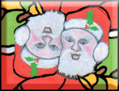 santa claus motif tessellation art by bruce bilney