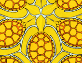 TURTLE HEXAGON tessellation art by bruce bilney