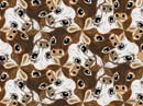 calf theme m. c. escher-style tessellation art by doctor david