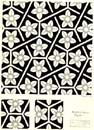flower pattern tessellation by mc escher