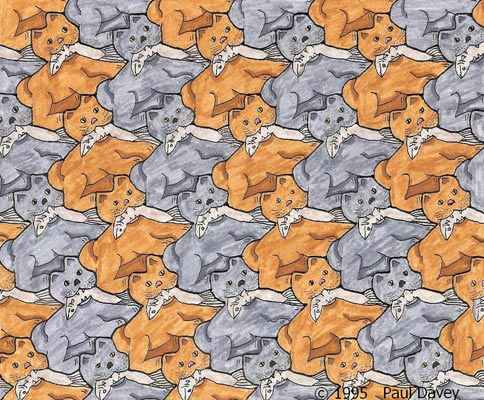 Cat With Fish Tessellation by