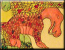 ELEPHANT motif tessellation art