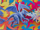 dragon tessellation art by Hop David