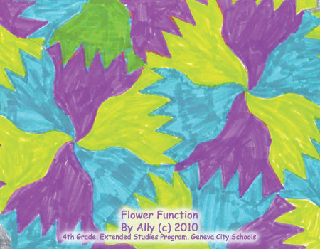 Guest School Gallery 3: Flower Function by Ally | Tessellation Art