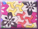 do-it-yourself abstract geometric pinwheel theme tessellation art