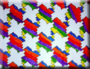 colorful geometric tessellation, Escher Style Art