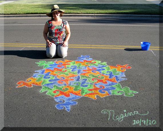 how to draw 3d sidewalk chalk art