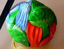 sphere fish theme tessellation art: 6 triangles make a 3D ball.