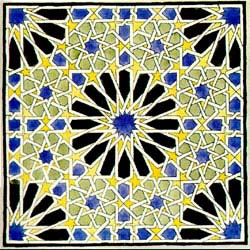alhambra tessellation of a geometric abstract type