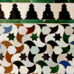 Actual Alhambra  tesellation tilings