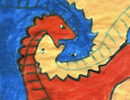 copy of Tessellation art, dinosaur theme, from Bugman123