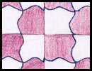 ABSTRACT theme M. C. Escher style tessellation art