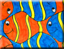 clownfish tessellation art