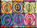 peace sign theme tessellation art by a child