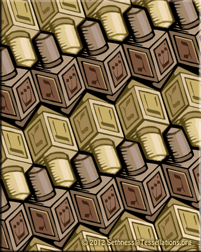 easy dreidel tessellation art by sethness
