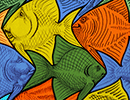 Make A Fish tessellation art