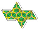 diy tessellation papercraft octahedron peace turtles